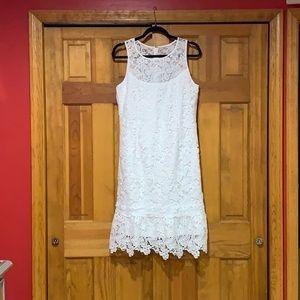 White House Black Market white formal dress